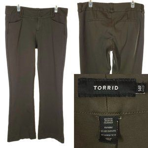 TORRID Forest Green Boot Cut Mid Rise Pants